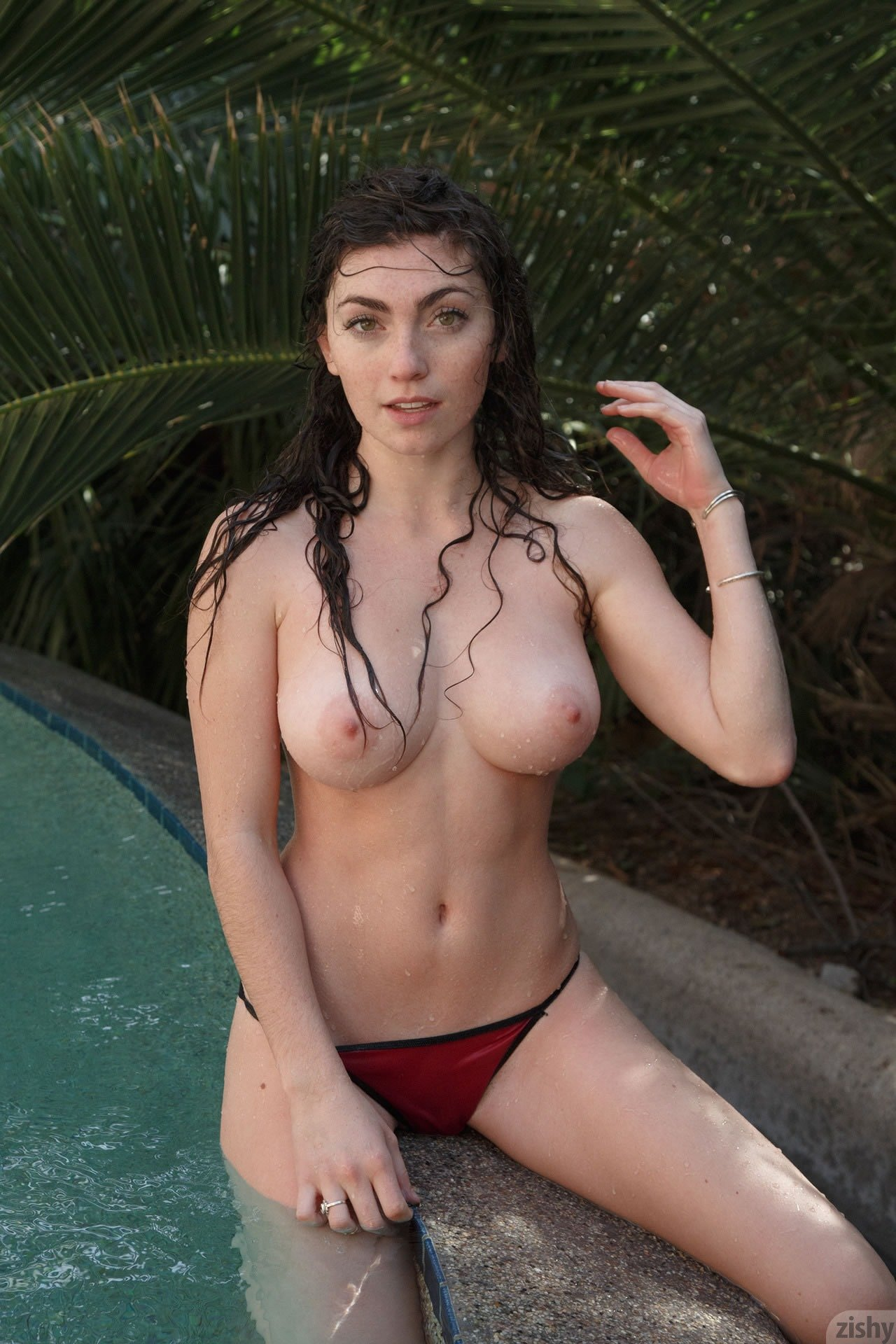 Alison gets wet and messy in the shower 3