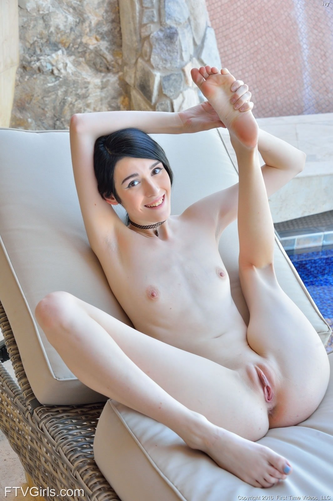 image Lovely short haired little slut loves to suck off two curly haired angel dudes